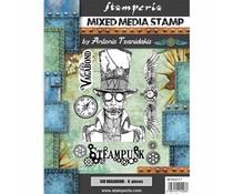 Stamperia Mixed Media Stamp Sir Vagabond Steampunk (WTKAT17)