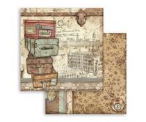 Stamperia Lady Vagabond Luggage 12x12 Inch Paper Sheets (10pcs) (SBB759)
