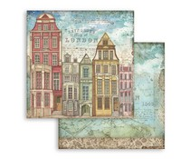 Stamperia Lady Vagabond London Houses 12x12 Inch Paper Sheets (10pcs) (SBB761)