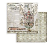 Stamperia Lady Vagabond Flying Ship 12x12 Inch Paper Sheets (10pcs) (SBB757)