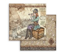Stamperia Lady Vagabond and Cat 12x12 Inch Paper Sheets (10pcs) (SBB760)