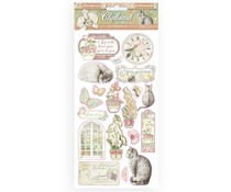 Stamperia Chipboard 15x30cm Orchids and Cats (DFLCB17)