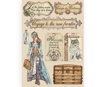 Stamperia Colored Wooden Shapes A5 Lady Vagabond Labels (KLSP091)