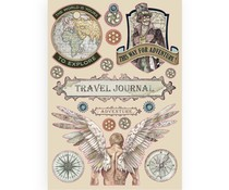 Stamperia Colored Wooden Shapes A5 Sir Vagabond Travel Journal (KLSP085)