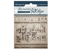 Stamperia Decorative Chips Alphabet and Numbers (SCB24)