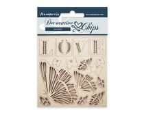 Stamperia Decorative Chips Love (SCB20)