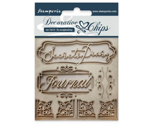 Stamperia Decorative Chips Secret Diary (SCB25)