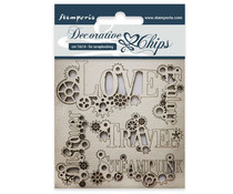 Stamperia Decorative Chips Sentiments (SCB36)