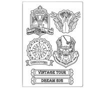Stamperia Mixed Media Mould A5 Sir Vagabond Vintage Tour (KACM04)