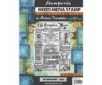 Stamperia Mixed Media Stamp Sir Vagabond The Traveler News (WTKAT13)