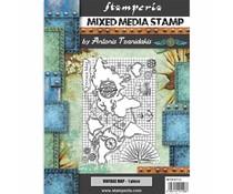 Stamperia Mixed Media Stamp Sir Vagabond Vintage Map (WTKAT15)