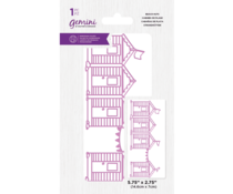Gemini Best of British Beach Huts Embossing Folder (GEM-EF5-BOBBH)