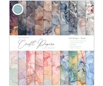 Craft Consortium Essential Craft Papers 12x12 Inch Paper Pad Ink Drops Dusk (CCEPAD014)