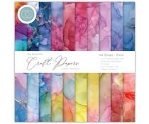 Craft Consortium Essential Craft Papers 6x6 Inch Paper Pad Ink Drops Vivid (CCEPAD013B)
