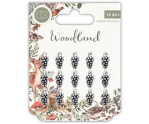 Craft Consortium Woodland Metal Charms Silver Pine Comb (CCMCHRM018)
