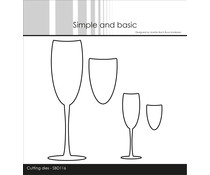 Simple and Basic Champagne Glasses Cutting dies (SBD116)