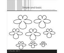 Simple and Basic Sweet Flowers Cutting dies (SBD117)