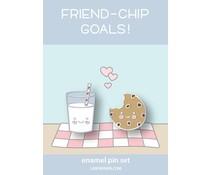 Lawn Fawn Cookies and Milk Enamel Pin (LF2480)