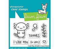 Lawn Fawn I Like You (A Lotl) Clear Stamps (LF2464)