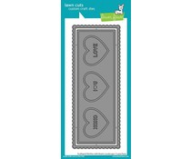 Lawn Fawn Scalloped Slimline with Hearts: Landscape Dies (LF2476)