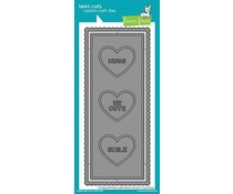 Lawn Fawn Scalloped Slimline with Hearts: Portrait Dies (LF2477)
