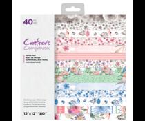 Crafter's Companion Contemporary Watercolour 12x12 Inch Paper Pad (CC-PAD12-CONWA)