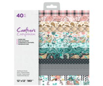 Crafter's Companion Traditional Florals 12x12 Inch Paper Pad (CC-PAD12-TRAFL)