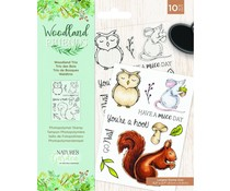 Crafter's Companion Woodland Friends Clear Stamps Woodland Trio (NG-WFR-STP-WTRI)