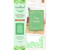Crafter's Companion Woodland Friends Embossing Folder Foliage Silhouette (NG-WFR-EF5-FSIL)