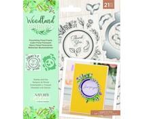 Crafter's Companion Woodland Friends Stamp & Die Flourishing Floral Frame (NG-WFR-STD-FFR)