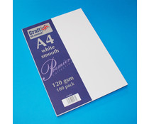 Craft UK Premium Collection A4 White Smooth Paper Pack (CUKW125)