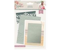 Crafter's Companion Rose Garden Embossing Folder Grande Lace (S-RGA-EF5-GL)