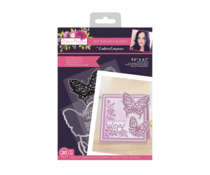 Crafter's Companion Butterflies and Blooms Stamp & Die Butterfly Love (SCC-AF-BB-STD-BL)