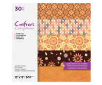 Crafter's Companion Summer Sunset 12x12 Inch Paper Pad (CC-PAD12-SSUN-30)