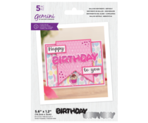Gemini Balloon Sentiments Birthday Stamp & Die (GEM-STD-BSBI)