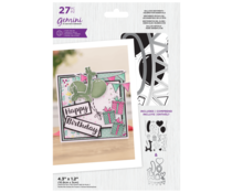 Gemini Balloon Sentiments Celebration Essentials Stamp & Die (GEM-STD-BSCE)