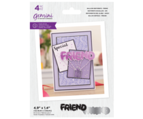 Gemini Balloon Sentiments Friend Stamp & Die (GEM-STD-BSFR)