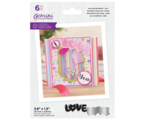 Gemini Balloon Sentiments Love Stamp & Die (GEM-STD-BSLO)