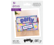Gemini Balloon Sentiments Party Stamp & Die (GEM-STD-BSPA)