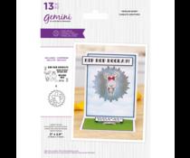 Gemini Twirling Bunny Stamp & Die (GEM-STD-TWIRLBU)