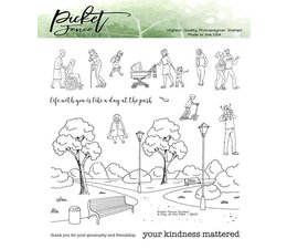 Picket Fence Studios A Walk in the Park 6x6 Inch Clear Stamps (BB-137)