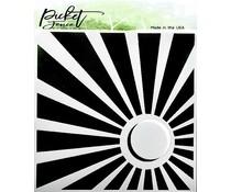 Picket Fence Studios Corner Sun 6x6 Inch Stencil (SC-214)