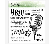 Picket Fence Studios Do Good Recklessly 6x6 Inch Clear Stamps (S-174)