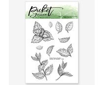 Picket Fence Studios Leaves for Flowers 3x4 Inch Clear Stamps (F-142)