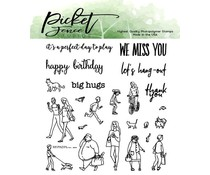 Picket Fence Studios More for A Walk in the Park 4x4 Inch Clear Stamps (BB-138 )
