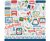Carta Bella Let's Celebrate 12x12 Inch Element Sticker (CBCB129014)