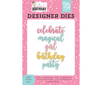 Echo Park Magical Birthday Girl Word Designer Dies (MBG231042)