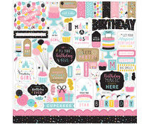 Echo Park Magical Birthday Girl 12x12 Inch Element Sticker (MBG231014)