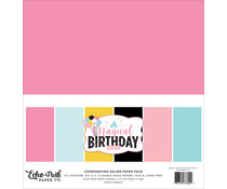 Echo Park Magical Birthday Girl 12x12 Inch Coordinating Solids Paper Pack (MBG231015)