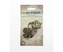 Mitform Flowers 5 Metal Embellishments (MITS062)